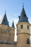 Towers of Alcazar of Segovia Royalty Free Stock Images