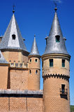 Towers of Alcazar of Segovia, Spain Stock Photo