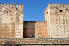 Tower of Alhambra Palace in Granada Stock Photos