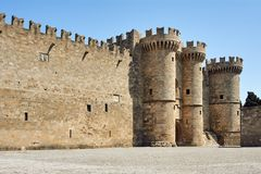 Free Towers And Battlements Of The Order Of The Knights Castle Royalty Free Stock Image - 112264606