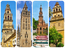 Towers in Andalusia, Spain, collage Royalty Free Stock Photography