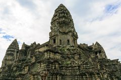 Towers of Angkor Wat Temple in Cambodia Royalty Free Stock Photography