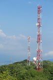 Towers with antennas Royalty Free Stock Image