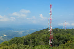 Towers with antennas Stock Images