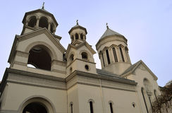 Towers on the Armenian Orthodox Church, Bucharest, Romania Royalty Free Stock Image