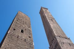The towers in Bologna Italy Royalty Free Stock Photo