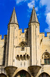 Towers of Avignon pope palace Stock Image
