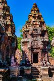 Towers of Banteay Srei Stock Images