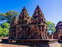 Towers of Banteay Srei Royalty Free Stock Photo