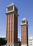 Towers in Barcelona, Spain Royalty Free Stock Image