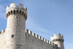 Towers and battlements Royalty Free Stock Photography