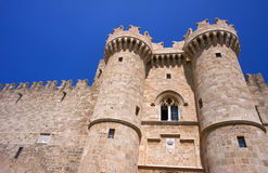 Towers and battlements of the Order of the Knights Castle Stock Images