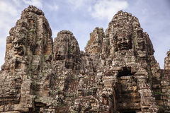 Towers Of The Bayon Temple Stock Image