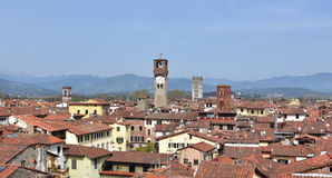 Towers and Belfries in Lucca Stock Photo