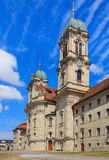 Towers of the Benedictine Abbey in Einsiedeln, Switzerland Stock Images