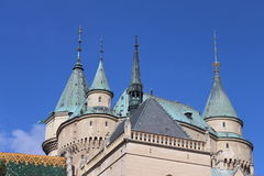 Towers of Bojnice castle, Slovakia Royalty Free Stock Image