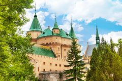 Towers of Bojnice stronghold Stock Photography