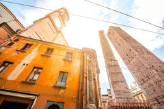 Towers in Bologna city royalty free stock photos