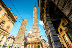 Towers in Bologna city Stock Photo
