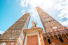 Towers in Bologna city stock photos