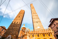 Towers in Bologna city Royalty Free Stock Images