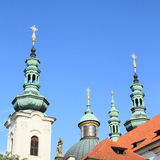 Towers of Brevnov Monastery royalty free stock images