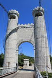 Towers of the bridge of the Caille, France royalty free stock image