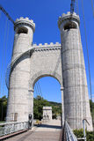 Towers of the bridge of the Caille, France stock photos
