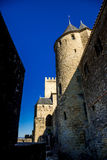 Towers of Cacassonne. Photograph of towers of Cacassone ,Carcassonne, France Stock Photo
