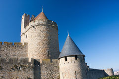 Towers in Carcassonne Stock Photography
