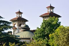 Towers of Casino Montbenon in Lausanne. Switzerland Royalty Free Stock Photos