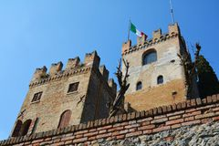 Towers of Castello in Conegliano, Veneto, Italy royalty free stock photos
