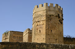 Towers of the castle of Alcala Royalty Free Stock Photo