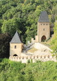Towers on Castle Karlstejn Royalty Free Stock Photo
