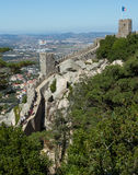 Towers of the Castle of the Moors in Sintra, Portugal. Royalty Free Stock Image