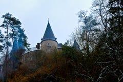 Castle Veves, trees, Furfooz, Diant, Belgium Stock Image