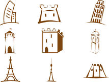 Towers, castles vector set Royalty Free Stock Photography