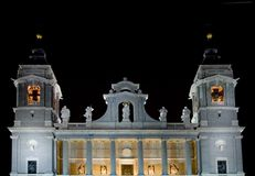 Towers of the Catedral de la Almudena de Madrid Royalty Free Stock Photography