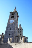 Towers of the Cathedral of Aosta, Italy Stock Photos