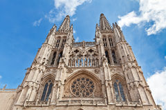 Towers of the cathedral in Burgos, Spain Royalty Free Stock Photography