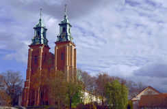 Towers of cathedral church Royalty Free Stock Image