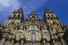 Towers of the cathedral facade Stock Image