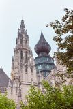 Towers of Cathedral of Our Lady in Antwerp Royalty Free Stock Image