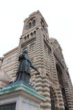 Towers of Cathedral and statue in Marseille, France Royalty Free Stock Photography