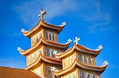 Towers of the Catholic Church in Vietnam royalty free stock images