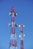 Towers of cellular operators Stock Photos