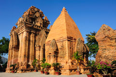 Towers Cham civilization in Nha Trang Stock Photos