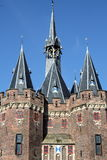 The towers of the city gate. In Zwolle in the Netherlands royalty free stock image