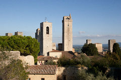 Towers in San Gimignano. Towers in the city of San Gimignano, Tuscany Royalty Free Stock Images