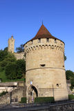 Towers on City Walls, Lucerne, Switzerland. Royalty Free Stock Images